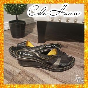 8.5 cole haan wedge slip on heel